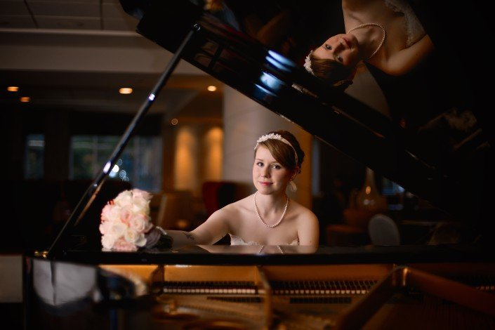 Bridal Portraits with Piano