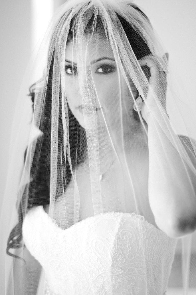 Stunning Black and White Bridal Portraits