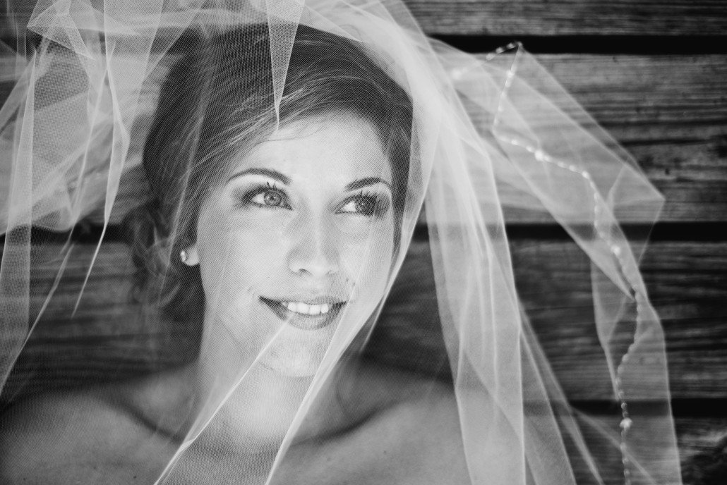 Bridal Portraits in Black and White