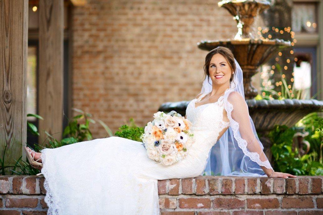 Butler's Courtyard Bridal Portraits