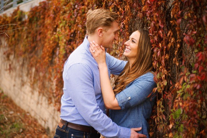 Autumn Engagement Photos in Houston