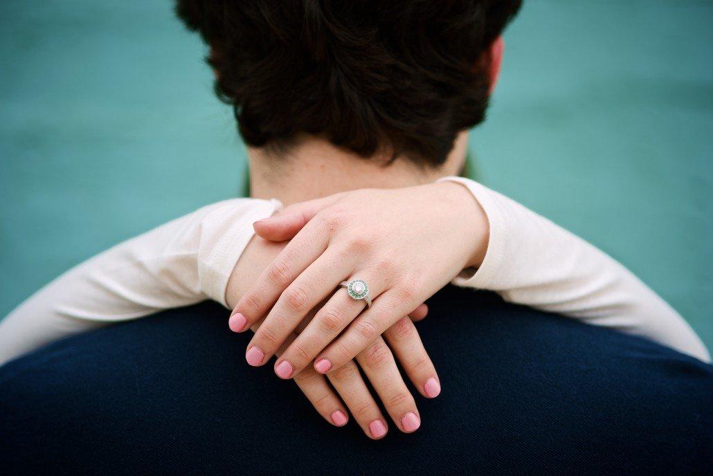Teal Engagement Portraits