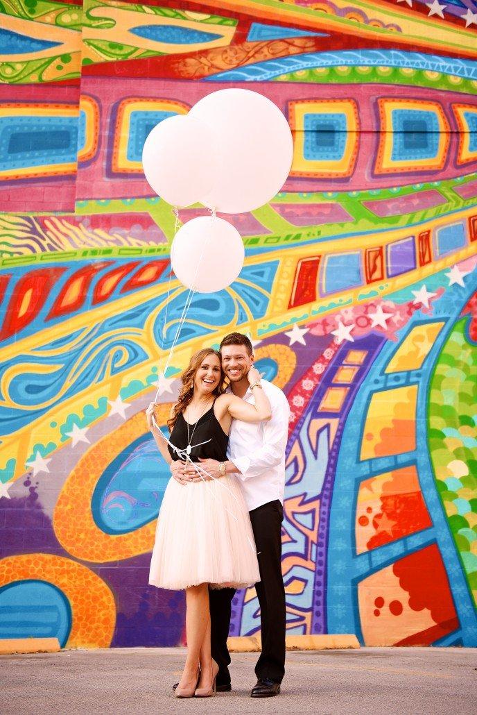 Fun Colorful Houston Engagement Photos