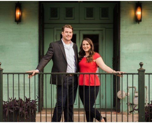 Colorful Downtown Houston Engagement Photo Ideas